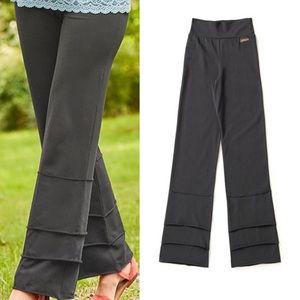 Matilda Jane   Finn Pants Ruffles Wide Leg Gray